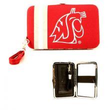 "Washington State Cougars Distressed Wallet Wristlet Case (3.5"" X .5"" X 6"")"