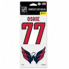 NHL Officially Licensed Washington Capitals Oshie 2 Pack Perfect Cut Decal