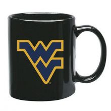 West Virginia Mountaineers 15 oz Black Ceramic Coffee Cup