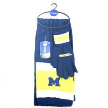Michigan Wolverines Cold Weather Knit Scarf and Glove Set