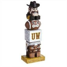 Wyoming Cowboys Tiki Totem