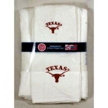 Texas Longhorn 3 Piece Towel Set White with Logo