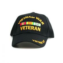 Armed Services Vietnam War Veteran Bar Script Hat