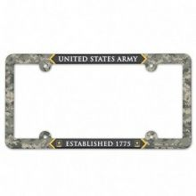 United States Army Force Full Color Camo Plastic License Plate Frame