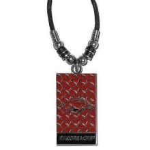 Arkansas Razorbacks Diamond Plate Rope Necklace, 20-Inch
