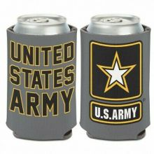 United States Army 2 Sided Design 12 oz Can Cooler
