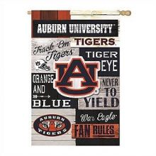 Auburn Tigers Vertical Linen Fan Rules Garden Flag