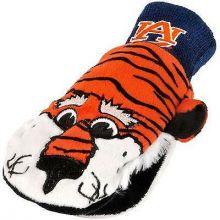 Auburn Tigers Knit Mascot Texting Mittens