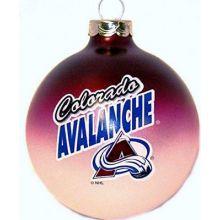Colorado Avalanche Glass Ball Ornament