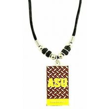 Arizona State Sundevils Diamond Plate Rope Necklace, 20-Inch