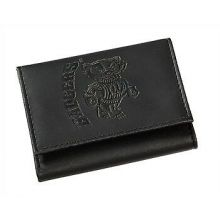 Wisconsin Badgers Black Leather Tri-Fold Wallet