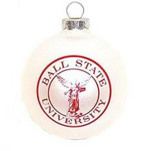 Ball State Small Painted Round Ornament