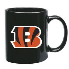 Cincinnati Bengals 15 oz Black Ceramic Coffee Cup