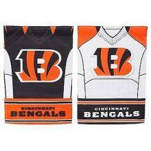 Cincinnati Bengals Double Sided Garden Flag