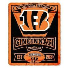 """Cincinnati Bengals 50"""" x 60"""" Marque Fleece Throw Blanket"""