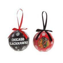 Chicago Blackhawks LED Ball Ornaments Set of 6