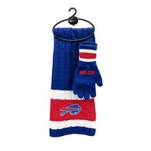 Buffalo Bills Cold Weather Knit Scarf and Glove Set