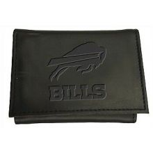 Buffalo Bills Black Leather Tri-Fold Wallet