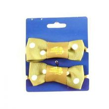 North Dakota State Bison Bow Pigtail Holders