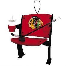 Chicago Blackhawks Team Stadium Chair Ornament