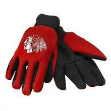 Chicago Blackhawks Foil Print Utility Gloves