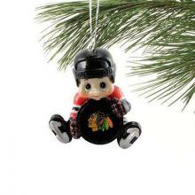 Chicago Blackhawks Lil' Fan Hockey Player Acrylic Ornament