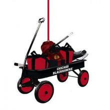 Chicago Blackhawks Team Wagon Ornament