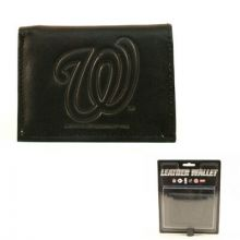 Washington Nationals Tri-Fold Leather Wallet