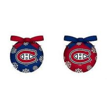 Canadiens LED Ball Ornaments Set of 2