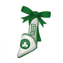 Boston Celtics Team High Heel Shoe Ornament