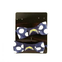 Los Angeles Chargers Bow Pigtail Holders
