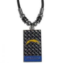 San Diego Chargers Diamond Plate Rope Necklace, 20-Inch