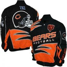 Chicago Bears Mens Twill Embroidered Jacket Coat (Small)