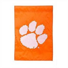 "Clemson Tigers  12.5"" x 18"" Two Sided Applique Garden Flag"
