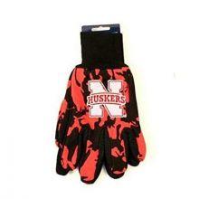Nebraska Cornhuskers Camo Utility Gloves