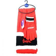 Nebraska Cornhuskers Cold Weather Knit Scarf and Glove Set