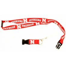 NCAA  Nebraska Cornhuskers Double Sided Team Color Breakaway Lanyard Key Chain