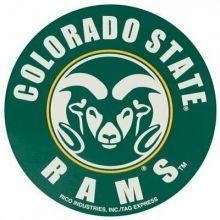 "Colorado State Rams 4"" Round Vinyl Decal"