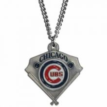 Chicago Cubs Home Plate Chain Necklace