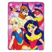 """DC Super Hero Girls Look Sharp 45"""" X 60"""" Character Fleece Throw"""