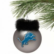 Detroit Lions Faux Fur Ball Ornament