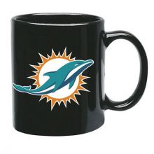 Miami Dolphins NFL Official Mug Black Glossy Large 425ml