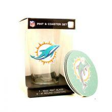 Miami Dolphins Pint and Coaster Set