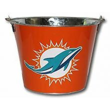 Miami Dolphins Solid 5 Qt Ice Bucket