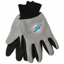 Miami Dolphins Team Color Utility Gloves