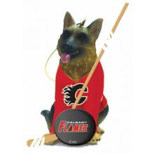 Calgary Flames Shepherd Team Dog Ornament