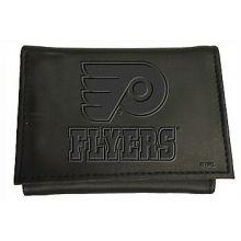 Philadelphia Flyers  Black Leather Tri-Fold Wallet