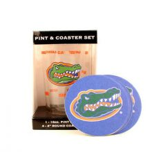 Florida Gators Pint and Coaster Set
