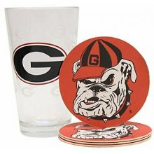 Georgia Bulldogs Pint and Coaster Set