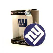 New York Giants Pint and Coaster Set